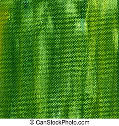 green painted background with canvas texture