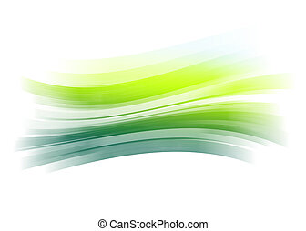 Green painted brush stroke background - Green gradient...