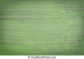green painted wood background