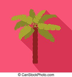 Green palm icon in flat style