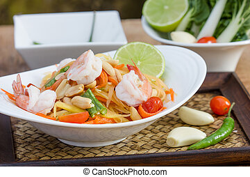 green papaya salad thai food