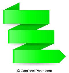 Green paper arrow