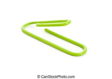 Green Paper Clip