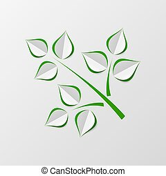 Green paper leaves