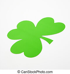 Green paper shamrock.