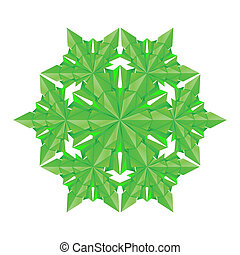 Green paper snowflake