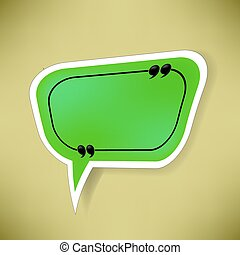 Green Paper Speech Bubble