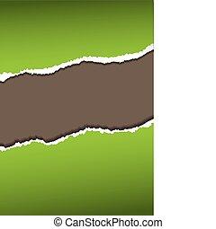 green paper tear
