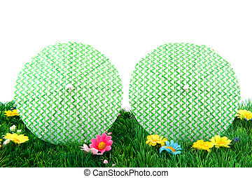 parasols in the grass