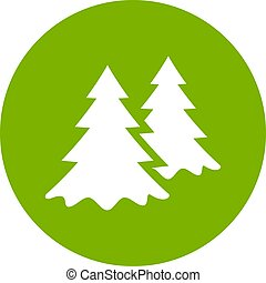 Green park or forest vector icon