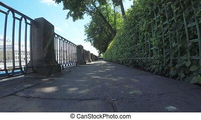 Green park Summer Garden - RUSSIA, SAINT PETERSBURG, JULY,...