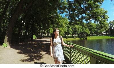 Green park Summer Garden woman