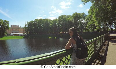Green park Summer Garden woman - RUSSIA, SAINT PETERSBURG,...