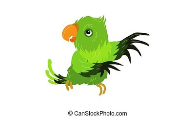 Green parrot icon animation