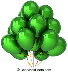 Green party balloons classic