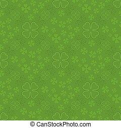 Patrick day seamless pattern - Green Patrick day seamless...
