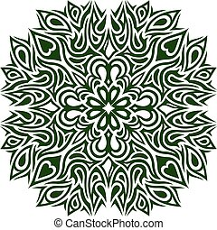 Green pattern with clover