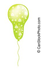 Green Patterned Balloon