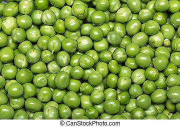 Green pea background. Pisum sativum