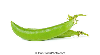 green pea isolated on the white background