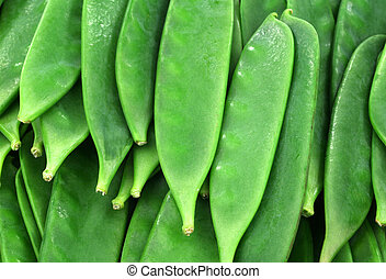 green pea pods background