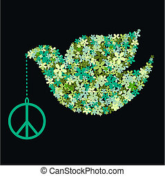 peace dove - green peace dove