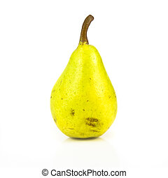 Green pear isolated over white background