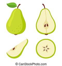 Green pear set