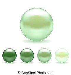 Green Pearl Set