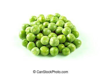 Group of fresh green peas - studio shot