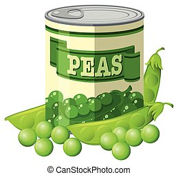 Green peas in can