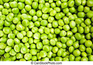 Green peas macro shot