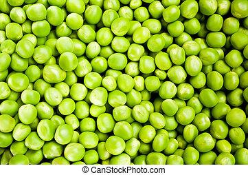 Green peas macro shot