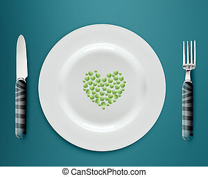 green peas on plate