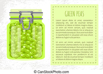 Green Peas Preserved Food in Unlabeled Glass Jar