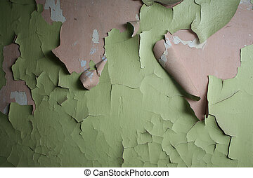 Green peeling paint texture