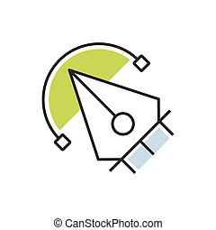 Green pen tool icon design