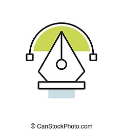 Green pen tool icon