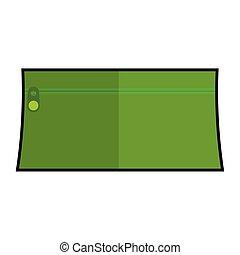 Green pencil case icon