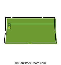 Green pencil case icon