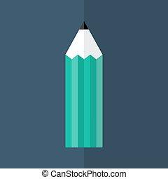 Green pencil icon over blue