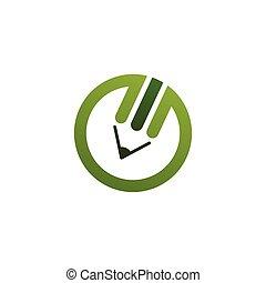 Green pencil logo