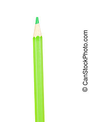 Green pencil vertically