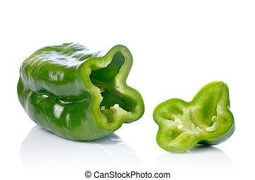 Green pepper slices