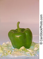 Green Pepper with Cabbage
