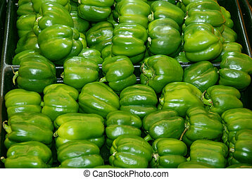 green peppers - peppers at the market