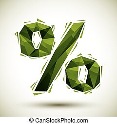 Green percent geometric icon made