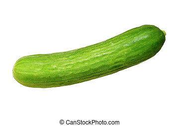 persian cucumber - green persian cucumber isolated on white...