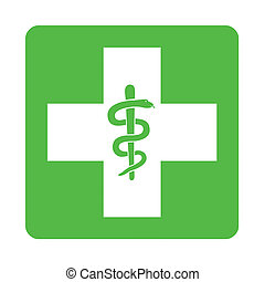 Green pharmacy sign illustration