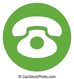 green phone circle icon